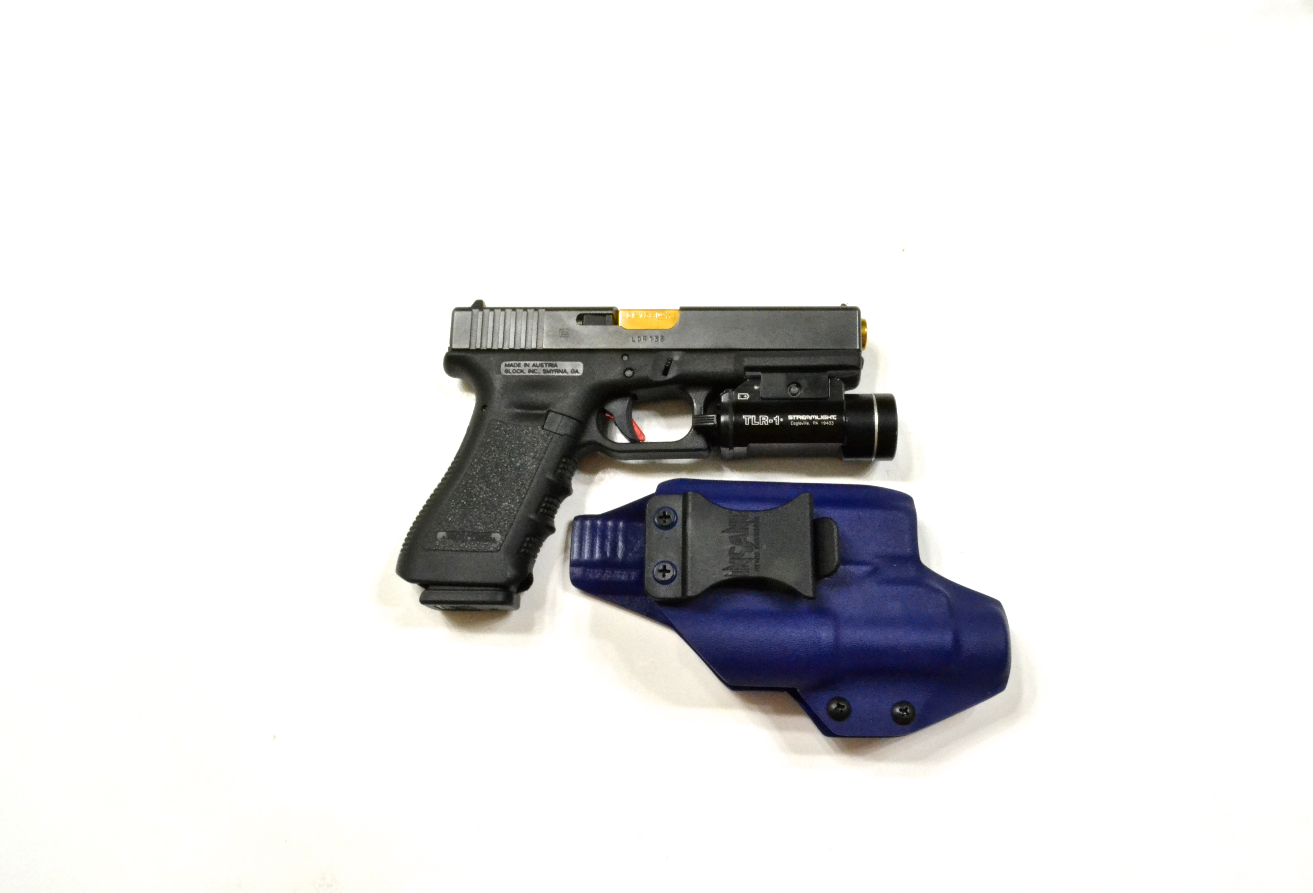 IWB LIGHT BEARING KYDEX HOLSTER